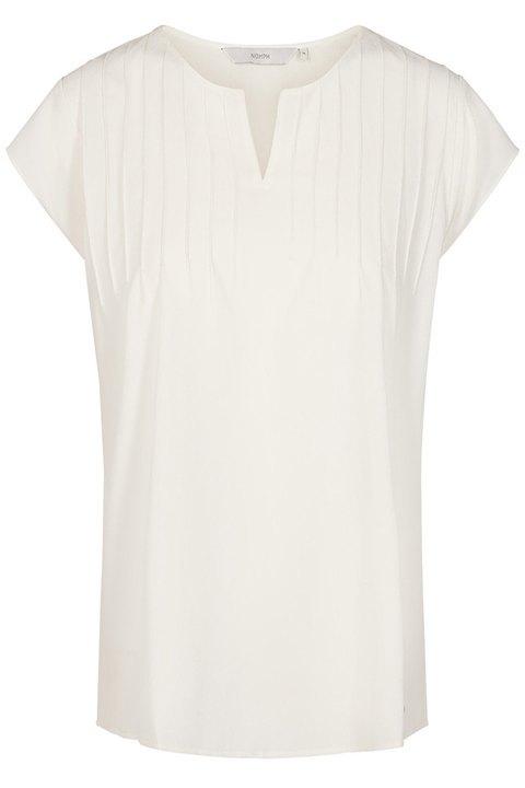Blusa blanco roto, sin mangas, de Nümph.
