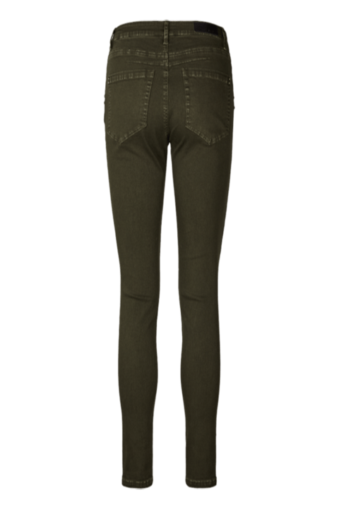 Parte trasera del pantalón pitillo con bolsillos