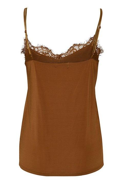 Clara Singlet. Camiseta de Soaked vista por la espalda, donde se aprecian los tirantes finos y regulables.