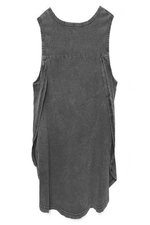 Be Happiness. Camiseta 100% algodón, vista por la espalda con detalle de aberturas laterales entrelazadas.