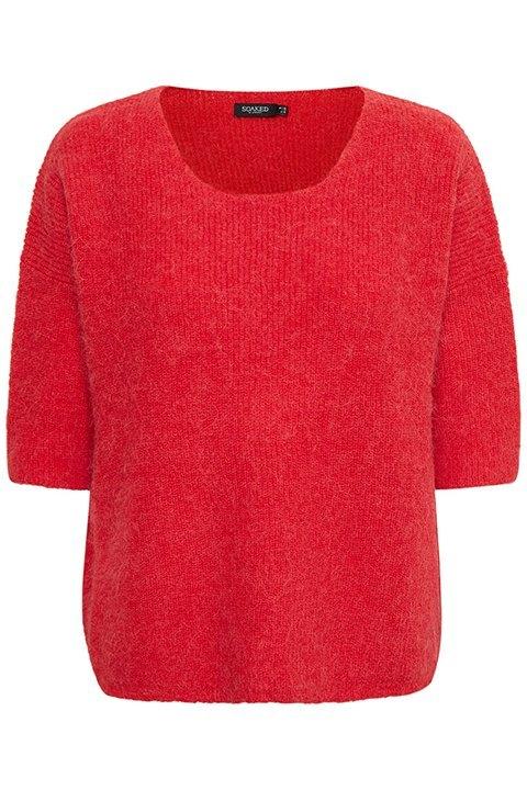 Tuesday jumper. Jersey de color rojo con manga francesa de la marca Soaked in Luxury.