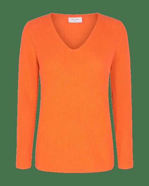 Jersey de punto en tono naranja. Freequent