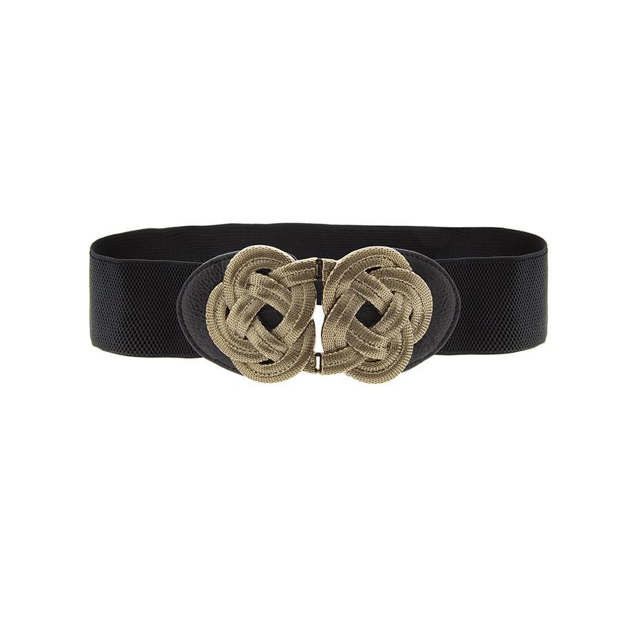 Alibey accesorios. Cinturón elástico con broche dorado.