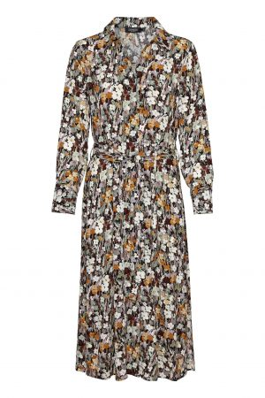 Vestido largo flores de otoño Soaked