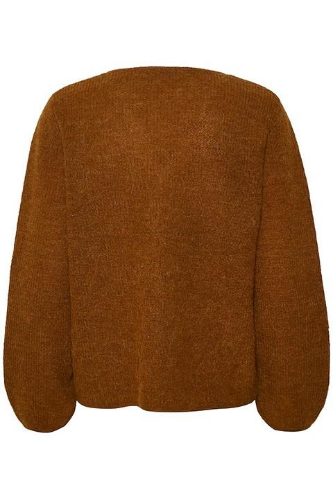 Jersey de pico en tono marrón. Soaked in luxury.