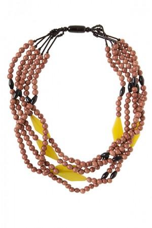 Collar resina tonos coñac-alibey