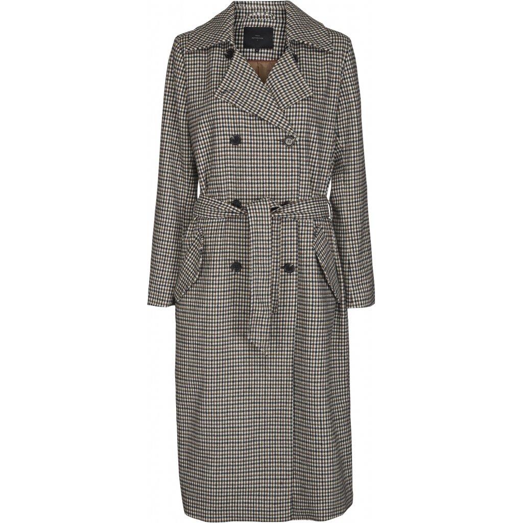 Abrigo de lana con estampado de cuadros. Tima Peppercorn.