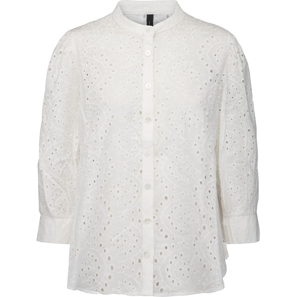 Camisa bordado inglés. Nura-peppercorn.