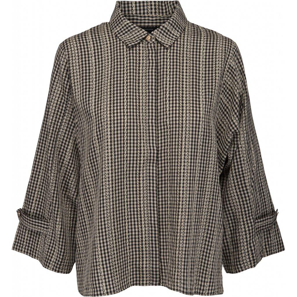 Camisa cuadros Pella. Peppercorn.