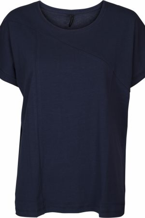 Camiseta de algodón azul marino. Peppercorn.
