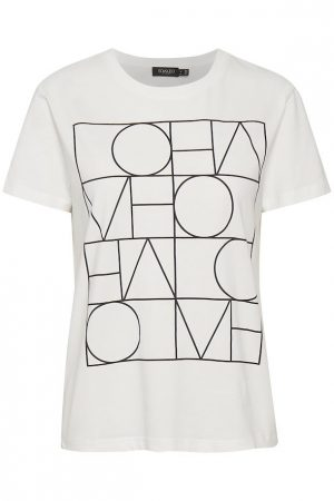 Camiseta blanca con letras en negro. Soaked in Luxury
