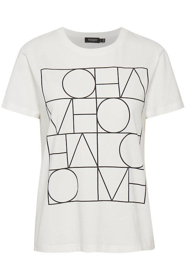 Camiseta blanca con letras en negro. Soaked in Luxury
