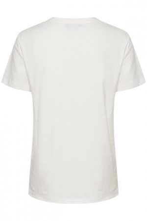 Camiseta blanca Slanneke vista por la espalda. Soaked in Luxury.