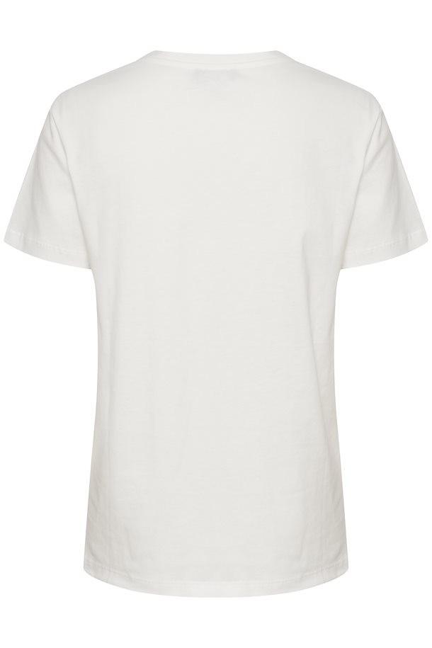 Camiseta blanca Slanneke vista por la espalda. Soaked in Luxury.