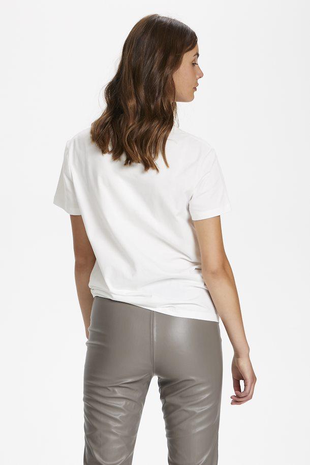 Camiseta dibujos geométricos vista por la espalda.