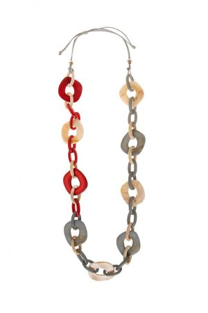 8246 collar eslabones resina Alibey accesorios.