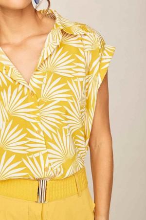 Smile detalle camisa uva amarillo.