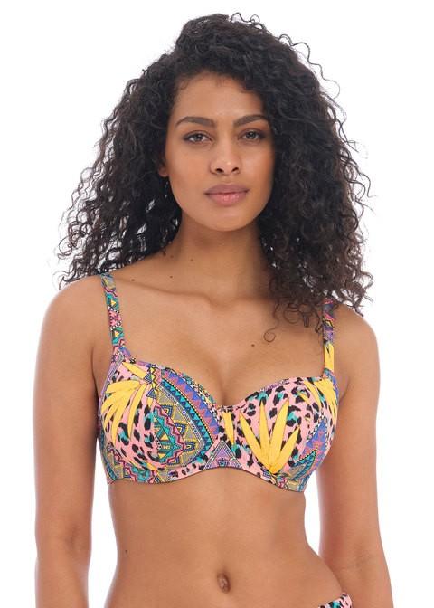 sujetador bikini acolchado multi cala fiesta. Freya.
