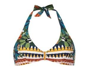 top triangulo bikini estampado Dolores Cortes