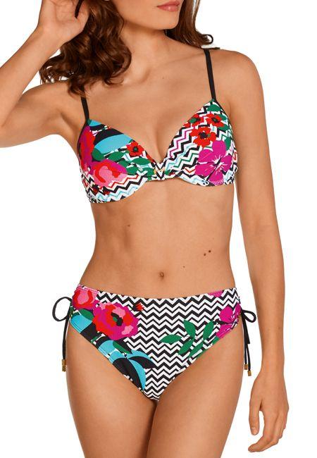 Bikini estampado aros Dolores Cortés.