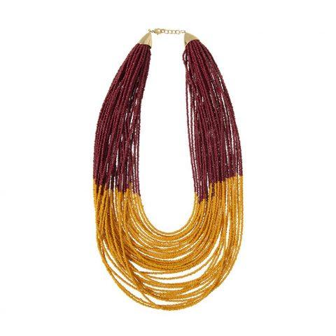 collar bicolor Alibey accesorios.