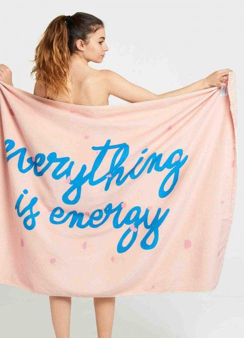toalla everything is energy dear tee.