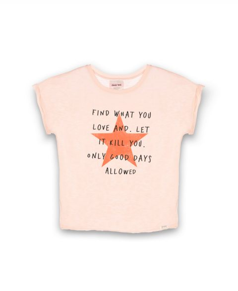 camiseta estrella mensaje. Dear tee