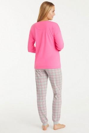 espalda pijama pantalón cuadros con puño. Promise.