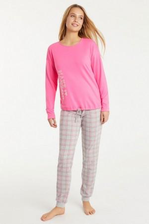 pijama pantalón cuadros con puño Promise.