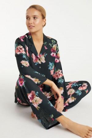 Pijama satén estampado Promise